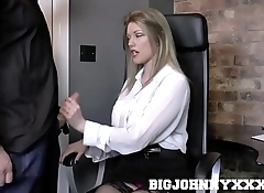Hot British Boss Milf Holly Kiss Fucks Young Employee! Hardcore Fucking &amp_ Deepthroat Action