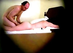 Horny Hidden Camera Massage Older Man-Older Woman Eats Pussy, Gets BlowJob