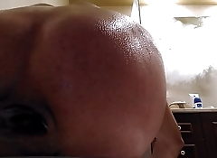 Pushing out from my ass cavity the whole dildo