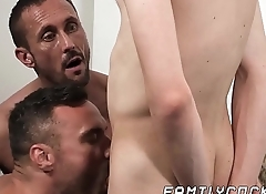 Deviant daddy brought his hunk friend to fuck his son
