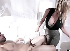 Teen stepdaughter has to service MILF stepmoms new man