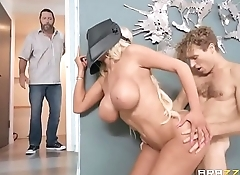 Hump-Starting Her Ride - Nicolette Shea - FULL SCENE on http://bit.ly/BraSex