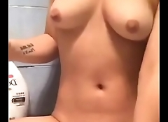 Asian girl shaved her little pussy