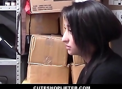 Cute Teen Latina Employee Isabella Nice Caught Stealing From Her Work Fucked By Security Guard