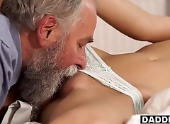 Stunning Blonde GF Sucks &amp_ Fucks Boyfriend'_s Hairy Dad