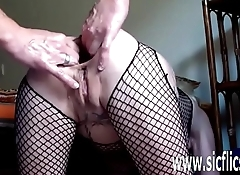 Gigantic anal dildo fuck and fisting amateur