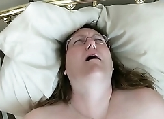 Fatty In Glasses VIbrating Her Pussy For Bf'_s Pleasure