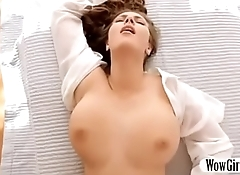 Gorgeous pornstar get sensual boob massaged and fucked in doggy style with tit fuck