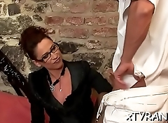 Sub chap gets dick jerked during the time that worshipping lover'_s feet