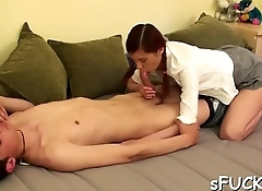 Excited babe wanted to fuck a lad she is studying with