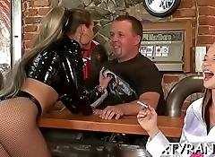 Bdsm fetish action with dude getting sexy wax and mouth screwed