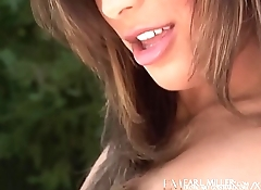 Emerald Eyed Audrianna Angel Finger Fucks Outdoors!
