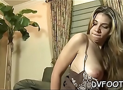 Hot girl gets her foot licked wildly whilst toying her cunt