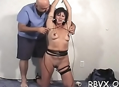 Ditry bitch gets totally bounded and titillated by a toy