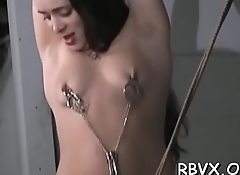 Ballgagged whore gets aroused whilst playing with herself