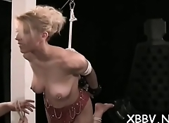 Woman plays by man'_s rules in sadomasochism xxx non-professional show
