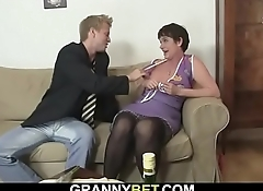 Sex date with hairy pussy old granny