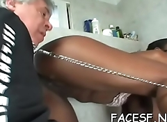Dude licks ass and gets treated to a precious foot and blowjob