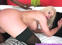 Busty euro gilf in stockings fucked by bbc