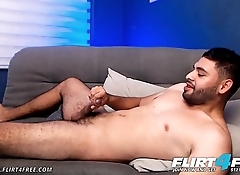 Jerome V - Flirt4Free - Bearded Latino Eats Cum Off His Feet