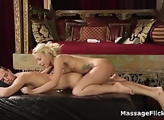 Latina masseuse blows delivery guy by accident
