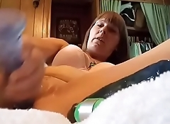 Sexy hotwife home alone
