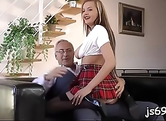 Older lad gets totally lucky in reality sex scenery