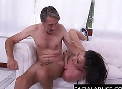Sloppy slut throated fucked &amp_ abused