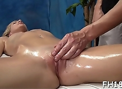 Gorgeous honey gets much more than just a massage!