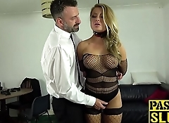 Fishnets bombshell Joanna Bujoli anally rammed with big cock